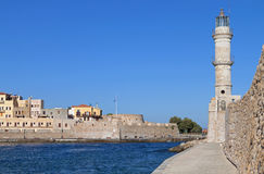 Chania Stadt in Kreta-Insel, Griechenland Stockfotos