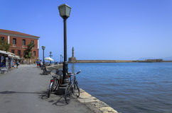 Chania stary miasteczko w Crete w Maju 21, 2013 Chania, Maj - 21 - Zdjęcia Royalty Free