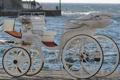 Chania tourists carriage Royalty Free Stock Images