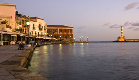Chania town in Crete, Greece royalty free stock photo