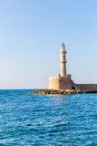 Chania town (Crete, Greece), light house Stock Image