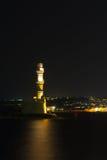 Chania town (Crete,Greece), light house, night Stock Photo