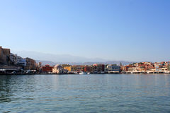 Chania town, Greece. Venetian town in Crete Royalty Free Stock Images