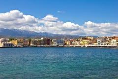 Chania town i Crete arkivbild