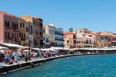 Chania. Venitian Harbour in Chania, Crete, Greece Stock Images