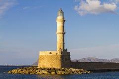 Chanias-Leuchtturm Lizenzfreie Stockfotos