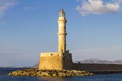 Chanias lighthouse Royalty Free Stock Photos