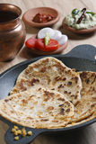 Channa Daal Parantha is an Indian flatbread Stock Image