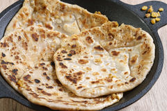 Channa Daal Parantha is an Indian flatbread Stock Images
