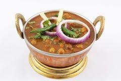 Channa masala i maträtt Arkivfoto