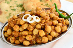 Channa Masala. An Indian dish prepared from channa/Chickpeas Stock Photo