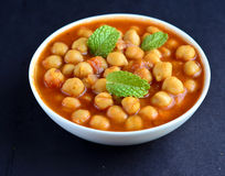 Channa Masala. An Indian dish prepared from channa/Chickpeas Royalty Free Stock Photography