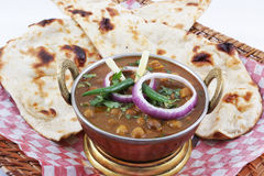 Channa naan in plate Royalty Free Stock Photography
