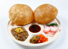 Channa poori Stock Photography