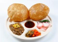 Channa poori Stock Photography
