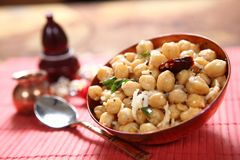 Toasted chickpeas, Chana Sundal, Kondai kadalai Sundal royalty free stock photography