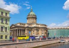 Channal do fron da opinião da catedral de Kazan Imagem de Stock