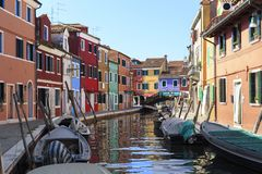Channek van Burano-Eiland, Venecia royalty-vrije stock foto