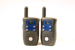 Channel 9. A set of FRS radios.  Camera: Nikon D70 Royalty Free Stock Images
