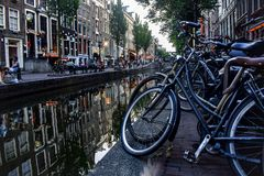Channel in Amsterdam stock images