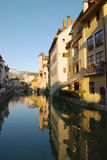Channel in Annecy stock photos