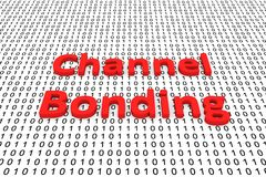 Channel bonding. In the form of binary code, 3D illustration Stock Photography