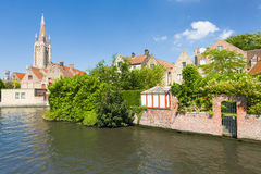 Channel in Bruges Stock Image