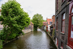 The channel in bruges Royalty Free Stock Images