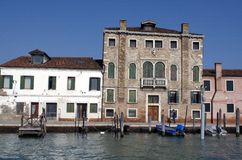 Channel buildings in Murano Island in Venice Stock Photo
