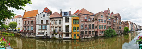 Channel in center of Ghent, Royalty Free Stock Photography