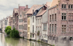 Channel in center of Ghent Royalty Free Stock Photography