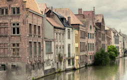 Channel in center of Ghent Stock Photos