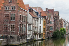 Channel in center of Ghent, Royalty Free Stock Photo