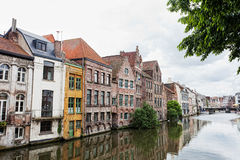Channel in center of Ghent Royalty Free Stock Image