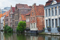Channel in center of Ghent Stock Photo