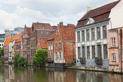 Channel in center of Ghent Stock Images