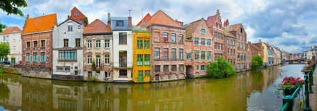 Ghent, Belgium. Channel in center of Ghent, Belgium Royalty Free Stock Photo