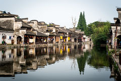 Channel in a Chinese watertown Stock Image