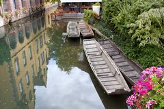 Channel in Colmar France. View of a Channel in Colmar France royalty free stock photography