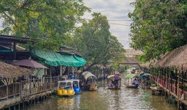 Channel of a floating market royalty free stock images