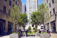 Channel Gardens at Rockefeller Center Stock Photos