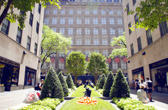 Channel Gardens at Rockefeller Center Royalty Free Stock Images