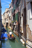 Channel and gondolas, Venice, Italy Stock Images