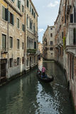 The Channel & The Gondolier. From a Trip around Venice, Italy stock image
