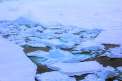 Channel has done in ice icebreaker Royalty Free Stock Photo