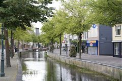 Channel in Heerenveen. Friesland, Netherlands Royalty Free Stock Images