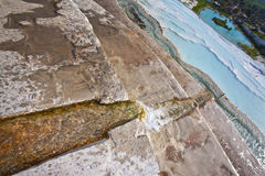 Channel in Hot Springs Pool at Pamukkale Stock Photography