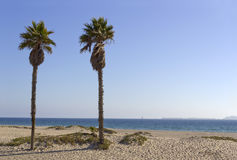 Channel Islands as seen from Mandalay Beach, CA stock image
