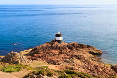 channel islands dżersejowy latarni morskiej noirmont punkt Zdjęcie Royalty Free