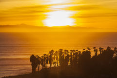 Channel Islands Sunset in Southern California Stock Photos